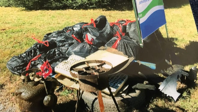 Gallatin's 2016 shoreline cleanup picked more than 3,000 lbs. of trash.