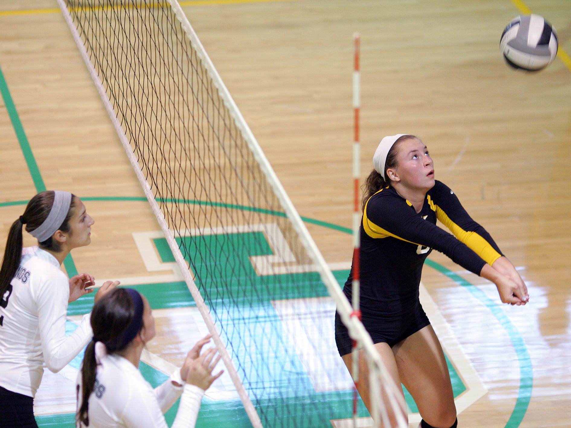 Watkins Memorial's Margaret Musselman eyes the ball this past Friday during a match against Northridge during the Newark Catholic Preview.