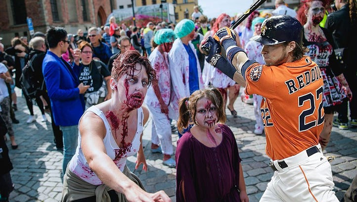 Which Astros player would be the best to have by your side in a zombie apocalypse?