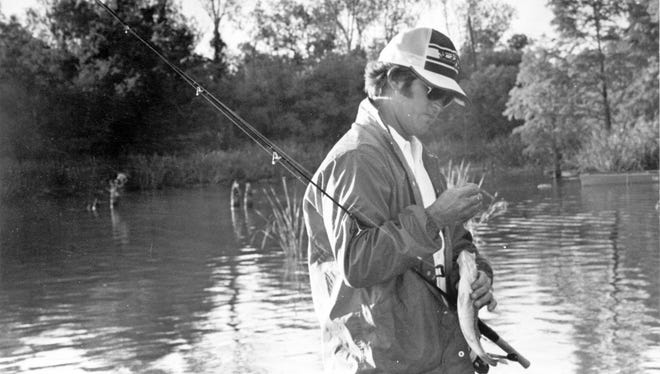 Rayne's Jack Hains, shown here fishing back in the mid-1970s, will enter the Louisiana Sports Hall of Fame on Saturday as a BassMasters champion.