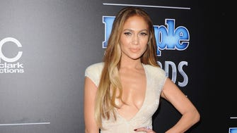 Actress Jennifer Lopez arrives at The PEOPLE Magazine Awards.