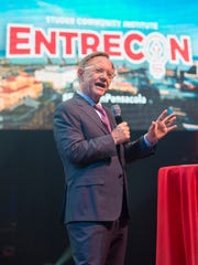 Quint Studer speaks during Entrecon in Pensacola on Tuesday, November 14, 2017.