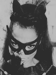 "Eartha Kitt poses in character as Catwoman for the television show ""Batman"" in 1967."