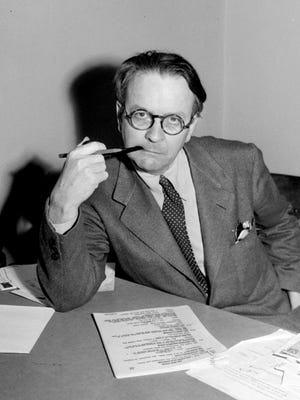 Mystery novelist and screenwriter Raymond Chandler, shown in a 1946 portrait.