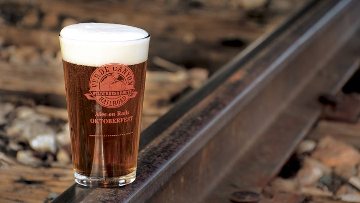 Brats, beer and more at the Ales on Rails Oktoberfest celebration at Verde Canyon Railroad.