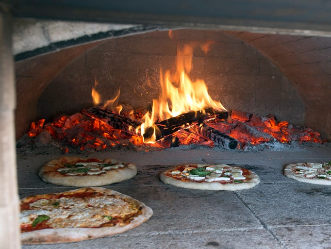 Mobile wood fired pizza from Forno Bova during What