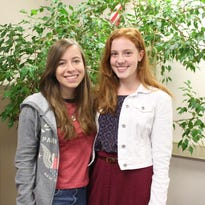 New Paltz High School seniors Kate Fishman (left) and Stephanie Stewart-Hill have been named Commended Students in the 2017 National Merit Scholar Program.