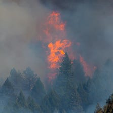 King Fire near Riverton