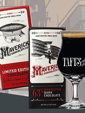 Taft's Ale House has used Maverick Chocolate Company chocolate in two of its beers.