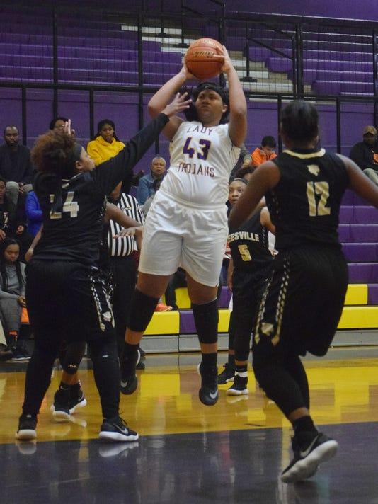 Alexandria Senior High School girls' basketball team play the Leesville High School girls Friday, Jan. 5, 2018.