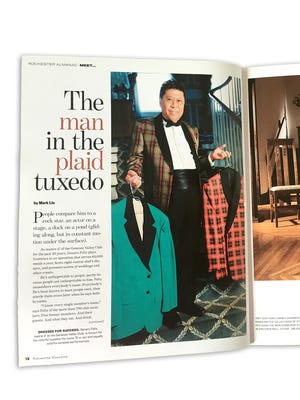 The article featuring Genaro Felix in the first issue of Rochester Magazine.