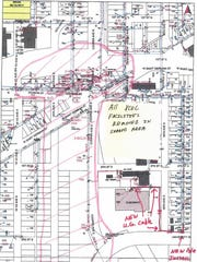 A drawing shows how the substation at Cooper Avenue