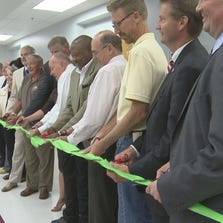 Ribbon cutting at new Juvenile Service Center