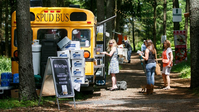 The Spud Bus and other food carts were on hand at the Oregon Garden Brewfest on Saturday, June 17, 2017, in Silverton, Ore.