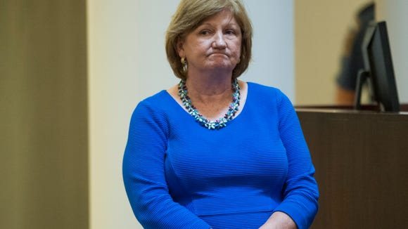 Lyn Stuart, acting Chief Justice, looks on during the lottery to pick the judges who will hear the Roy Moore appeal at the Alabama Judicial Building in Montgomery, Ala. on Thursday October 27, 2016.