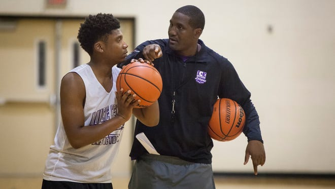 Muncie Central's boys basketball team practices in the school's gym on Monday as they prepare for the upcoming season.