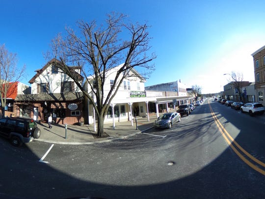 Downtown Toms River along Main Street is shown in this flattened 360 degree image Thursday, February 8, 2018.