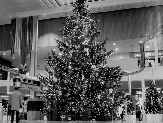 Christmas season in Midtown Plaza in 1990.