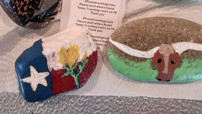 Texas-themed painted rocks have been found throughout the country after members of the Texas Traveling Rocks group hide them with directions.