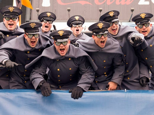 9836e1f51 Army Black Knights cadets show their excitement during