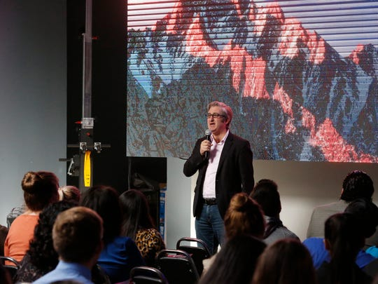 David Shrier, CEO of startup Distilled Analytics and an MIT lecturer and futurist, was one of several featured speakers Thursday morning during the Reset binational technology conference held at The Venue at Union Plaza in Downtown El Paso.