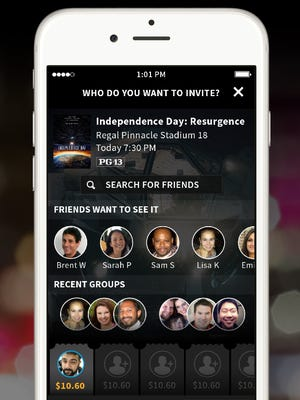 Atom Tickets allows you to invite friends and pick showtimes for new movies.