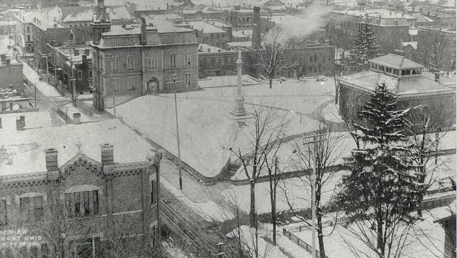 A photograph taken from atop the Standpipe in the early 1900s.