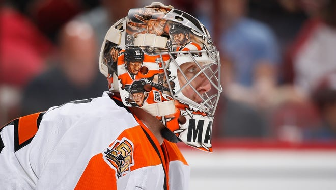Steve Mason appears to have the upper hand in the Flyers' ongoing goalie race.