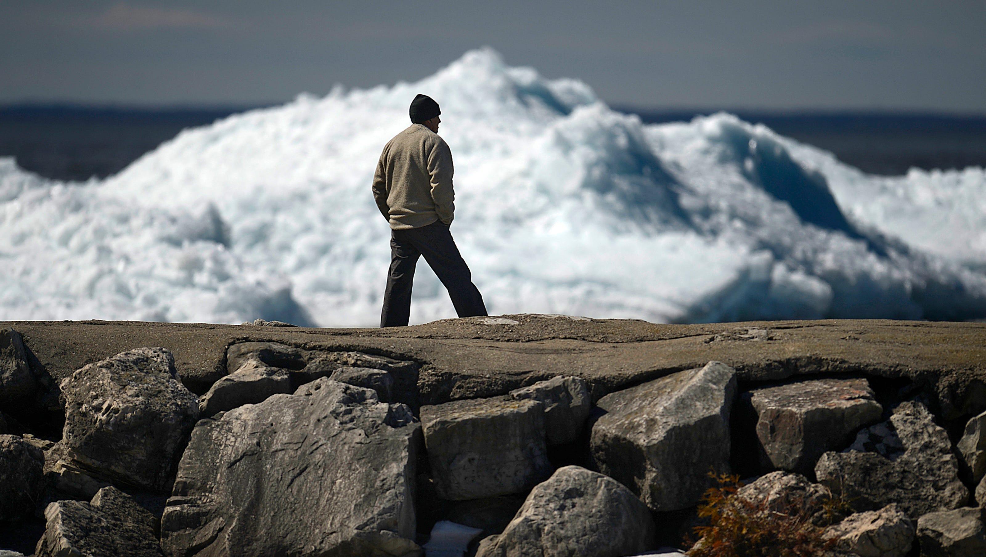 Ice Shoves At Bay Shore County Park