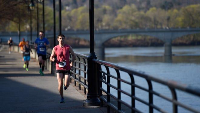 Hundreds of runners participated in the Greater Binghamton Bridge Run Half-Marathon on May 3.