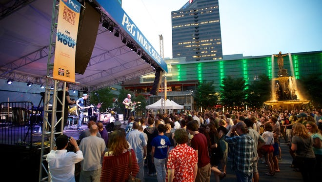 Indie Summer concert series at Fountain Square.