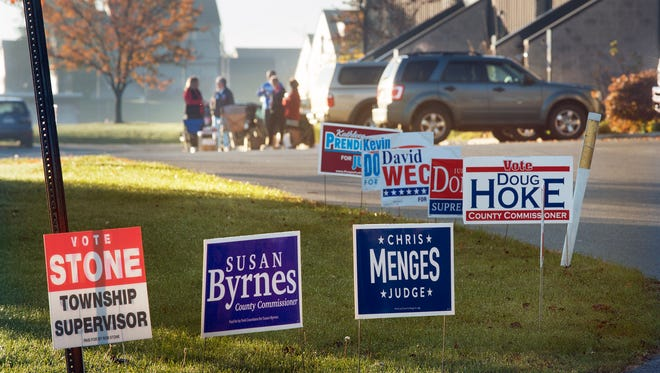 Voting begins at Dover Township #1 polling place Election Day Tuesday November 3, 2015