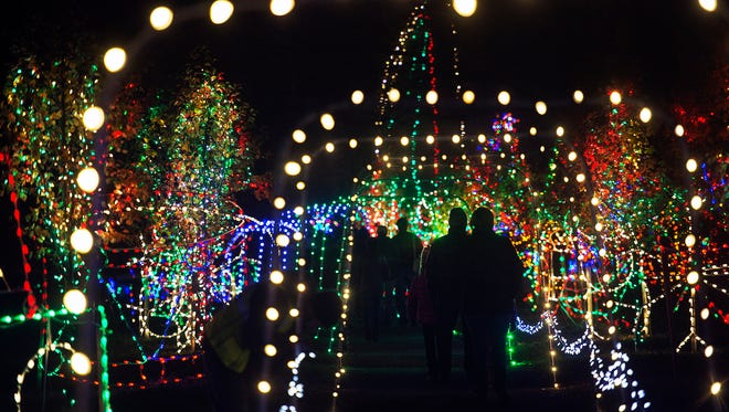 "This year's ""Christmas Magic: A Festival of Lights"" at Rocky Ridge County Park in Springettsbury Township includes 600,000 lights."