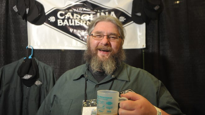 Carolina Bauernhaus Ales will open  Saturday in Anderson as the latest Upstate brewery. Pictured is owner Keston Helfrich