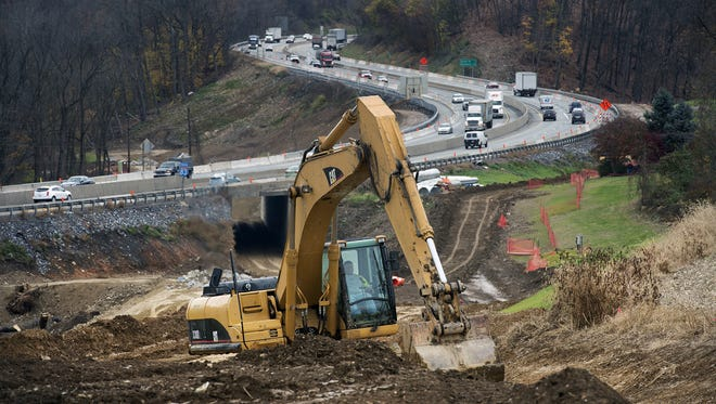 Construction continues at Mount Rose Avenue and Interstate 83 in Springettsbury Township. This view from November looks south on Interstate 83.