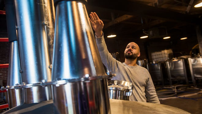 Co-owner Yianni Barakos talks about the distilling process on Dec. 20, 2015 at the Mason-Dixon Distillery in Gettysburg.