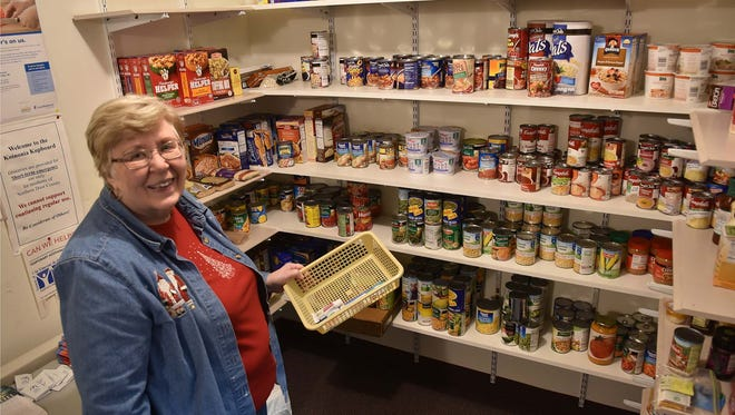First Baptist Church administrator Minnie Jackson helps manage the Koinonia Kupboard inside the Sister Bay church. The food pantry has been aiding northern Door County residents for 30 years. Jackson says personal care item donations are slim.