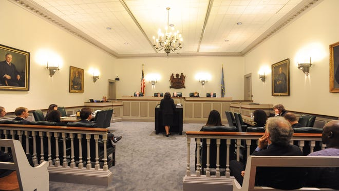 The Delaware Supreme Court hears a case on Oct. 28 in Dover. The court is weighing whether Delaware's capital punishment process is unconstitutional.