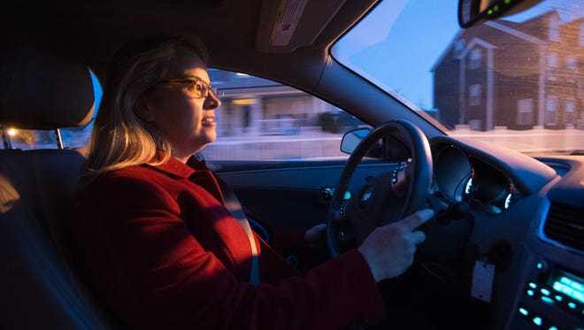 Marybeth Edgar leaves her Middletown home for her commute to a Washington, D.C., law firm 100 miles away. Her area is home to the largest number of long-distance commuters in the state.