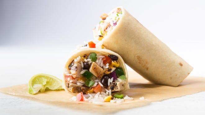 The chicken burrito at Uberrito.