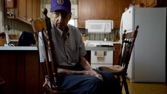 World War II veteran Paul Stegall talks to The Greenville News about D-Day.