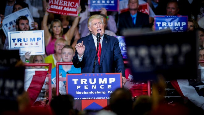 Donald Trump rally at Cumberland Valley High School, Monday, August 1, 2,016. John A. Pavoncello photo