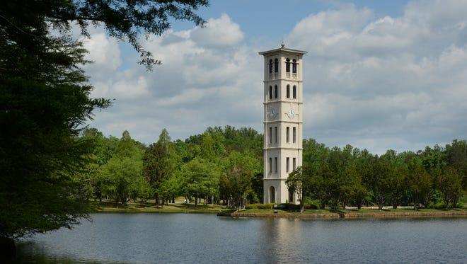 Bell tower at Furman University in Greenville, South Carolina.