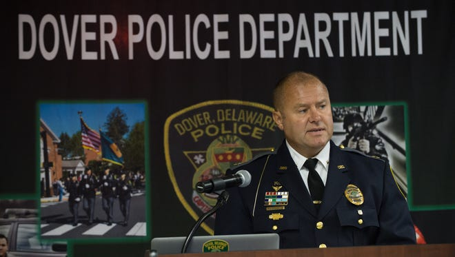Dover police Chief Paul M. Bernat on June 30 announces a new effort to address heroin. He is scheduled to take part in a discusson on police-community relations.
