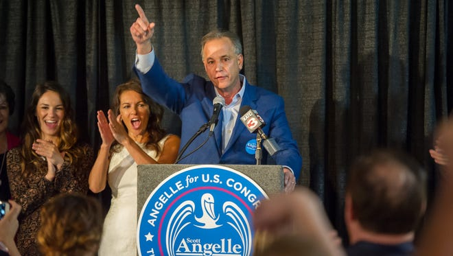 Scott Angelle speaking to his supporters on election night. November 8, 2016.