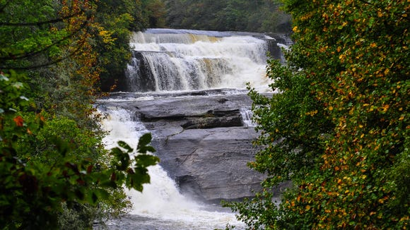 Triple Falls is one of the stops on the Mother's Day Weekend Tour de Falls at DuPont State Recreational Forest.