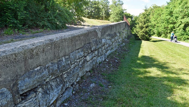 Artist Peter Mazzone has plans to paint a mural on the wall at East King and Hood streets Chambersburg. The wall is adjacent to the borough's pump track.