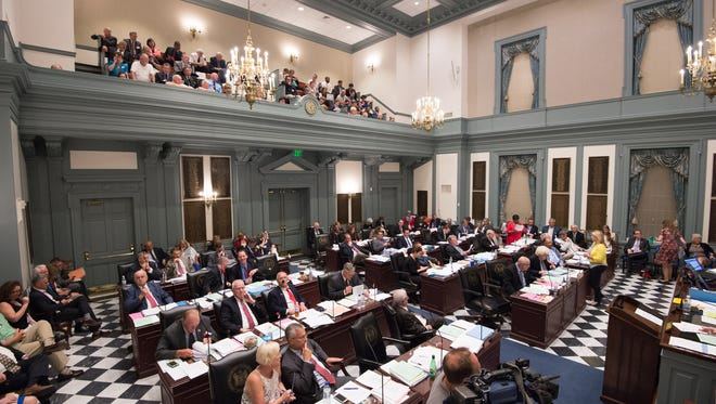 The Delaware House of Representatives sits in session during the last day of the 2016-2017 legislative session.
