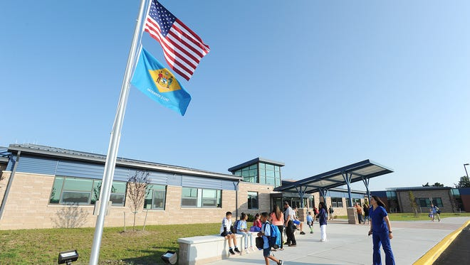 In this file photo, students start their first day of school at the new new Love Creek Elementary School in the Cape Henlopen School District in Lewes.