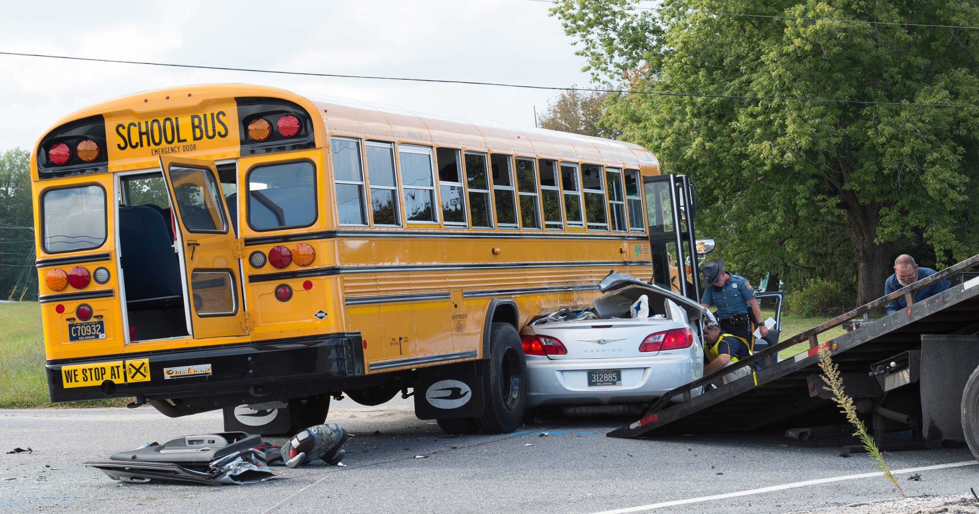Milton man critical after crash with Cape Henlopen school bus: police